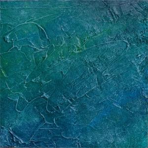 Below, acrylic on panel, 9x9, 2014